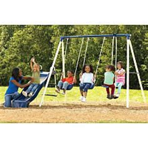 toys r us slides and swings flexible flyer kingston swing set with slide troxel