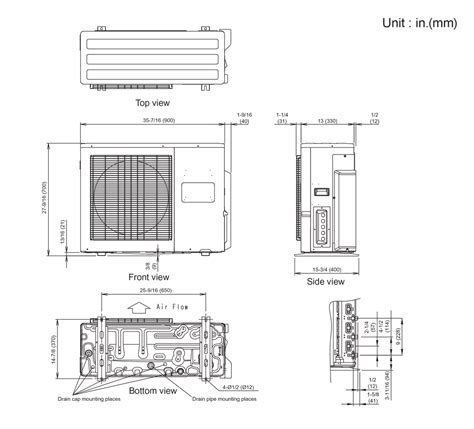 mitsubishi mini split dimensions fujitsu minisplit wireing diagram fujitsu air conditioner