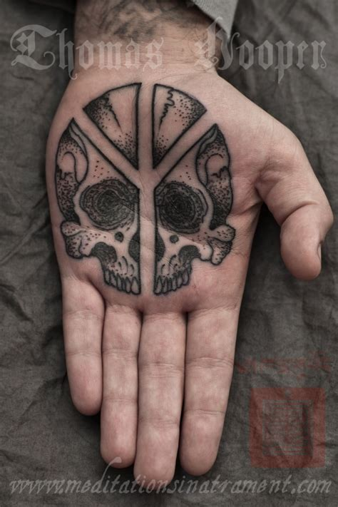 palm tattoo hooper peace sign skull palm more
