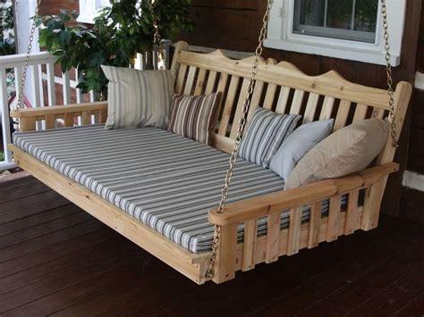 swing bed plans diy bed swing jbeedesigns outdoor hanging porch bed