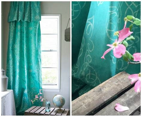 Stencil Dye Your Own Drop Cloth Curtain Hometalk