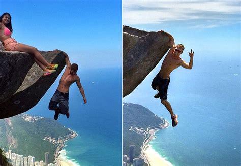 imagenes de vidas extremas pareja brasile 241 a se cuelga de un acantilado en brasil