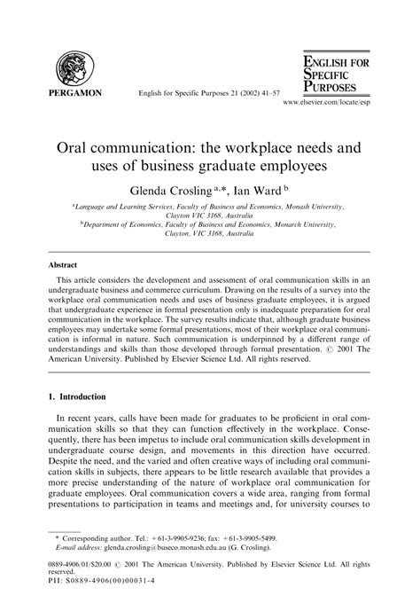 pattern of business communication pdf oral communication the workplace needs pdf download