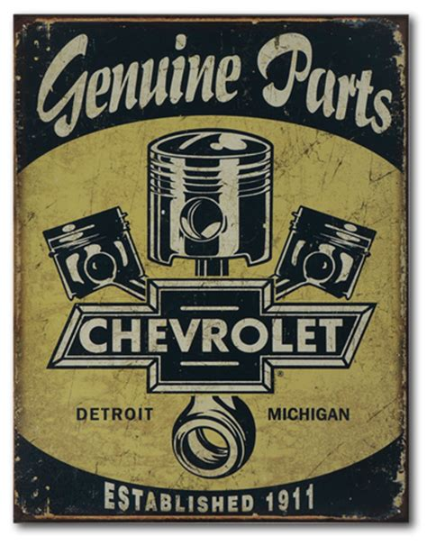 Chevrolet Genuine Parts Tin Sign ChevyMall