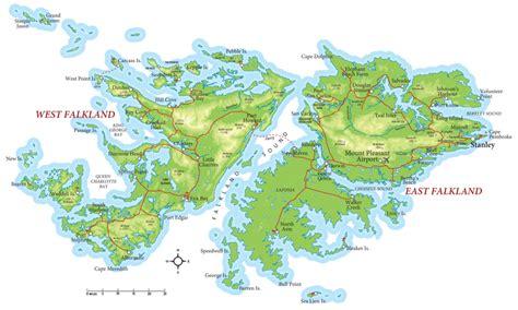 falkland islands on map falkland islands map mappery