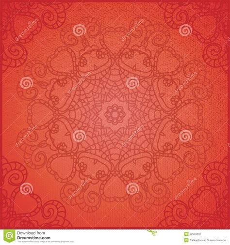 card background design lace pattern background with indian ornament stock vector