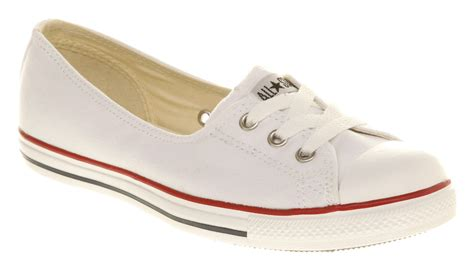 Coverse Womens womens converse lace optical white trainers shoes ebay