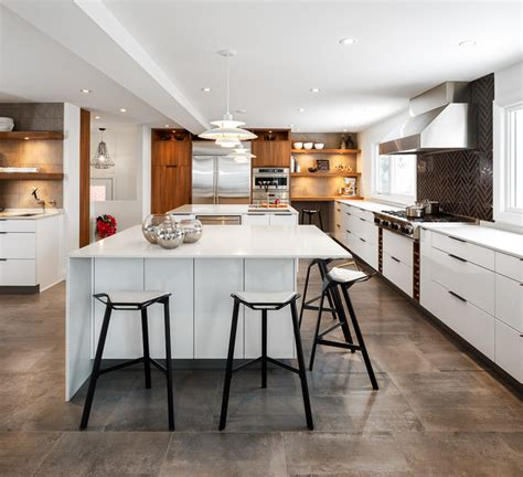 contemporary white kitchen houzz modern white kitchen by astro design ottawa contemporary kitchen ottawa by astro design
