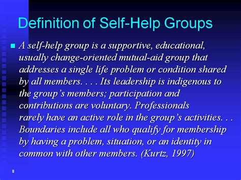 Definition Of Selves - tomofumi oka the power and potentiality of peer led self help groups in comparison with