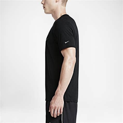 Nike Run Tshirt Black nike mens run dri blend swoosh running t shirt black