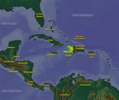 country of haiti map colorful buses and jeepneys eastern sea