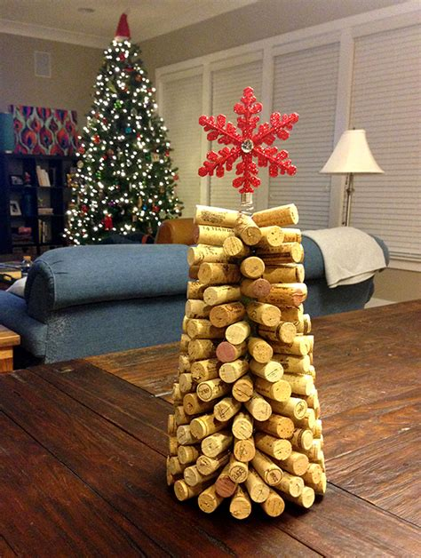 cork christmas tree diy wine cork trees slide up
