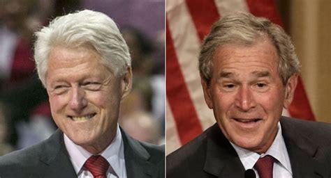 Bush Vs Clinton by Bill Clinton Ribs Bush On Politico