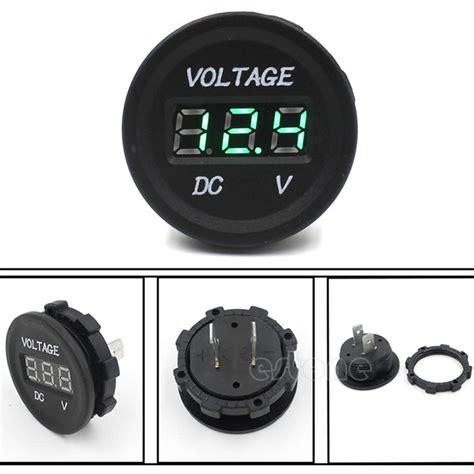 Voltmeter Digital Luminos Waterproof aliexpress buy free shipping 12v 24v car motorcycle led digital display voltmeter