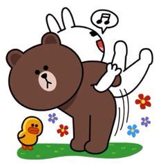 Kaos Line Emoticon Cony 1 Oceanseven line characters happy vacations brown and cony