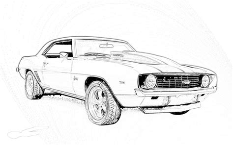 coloring pages of muscle cars muscle car coloring pages az coloring pages