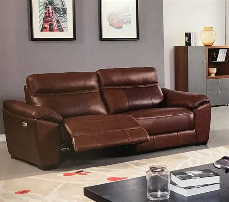 sofa leather power recliner forma brown leather power reclining sofa