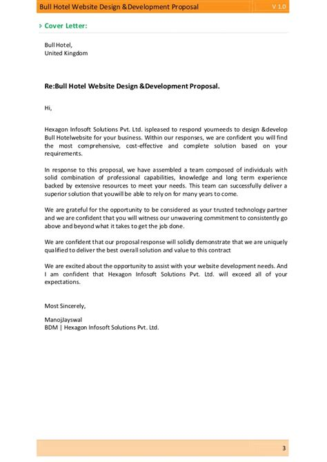 bull cover letter bull hotel website design development