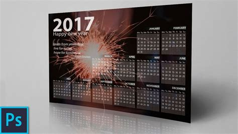 design calendar in photoshop how to create a professional calendar in photoshop youtube