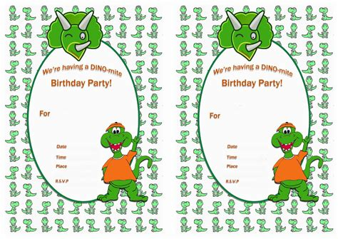 printable birthday cards dinosaur free dinosaur birthday invitations ideas best invitations