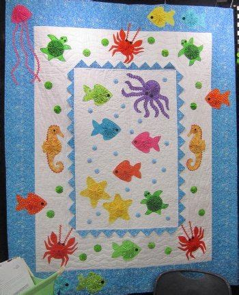 Patchwork Fish Pattern - baby quilt quilts 2