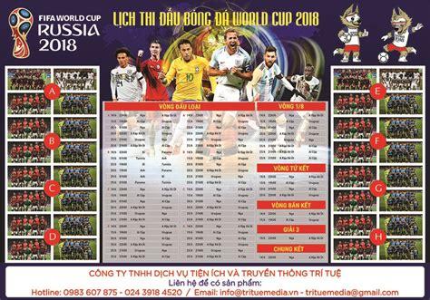 poster lịch thi đấu world cup 2018