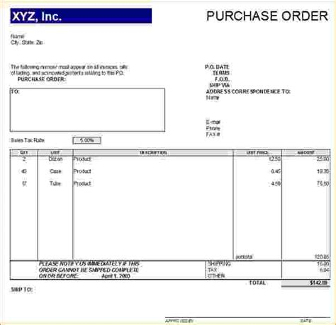 6 purchase order form timeline template