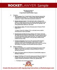 Free Missouri Single Member single member llc operating agreement