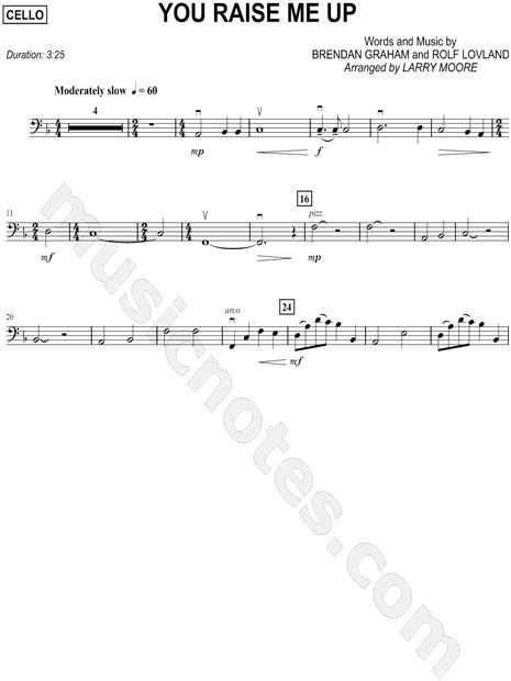 you raise me up sheet music direct