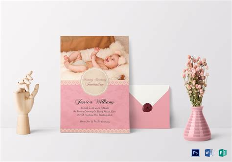 Baby Naming Ceremony Invitation Card Template Free