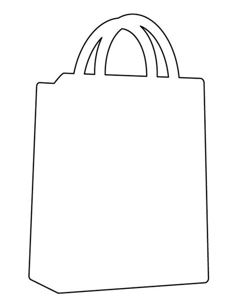 Line Pattern Bag shopping bag pattern use the printable outline for crafts