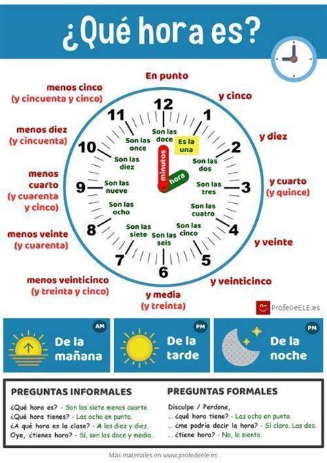veinticuatro horas en la 1482665972 191 c 243 mo se dice la hora en espa 241 ol profedeele es