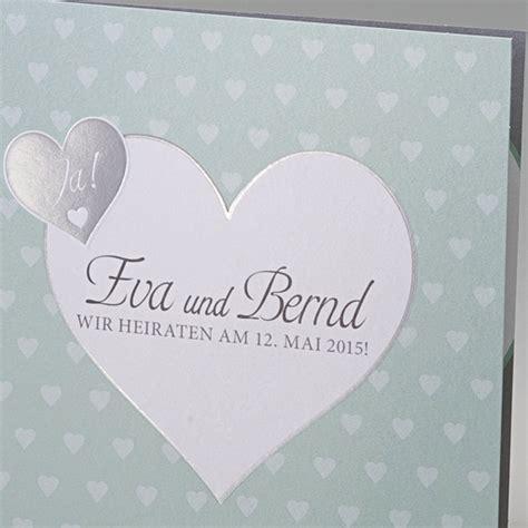 Hochzeitseinladung Umschlag Beschriften by Einladungskarte Quot Bine Quot Mintfarbene Karte Zur Hochzeit