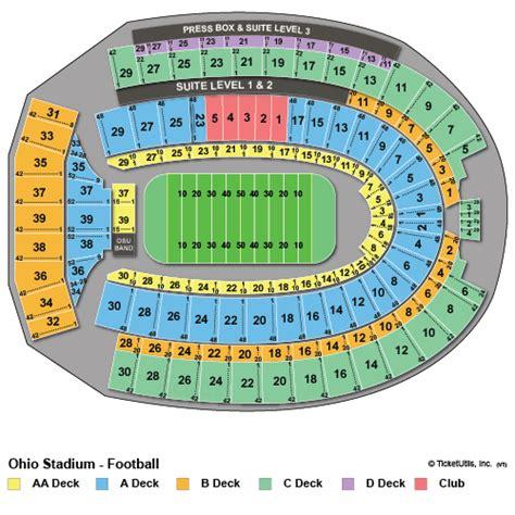 ohio state stadium seating chart ohio state buckeyes tickets 2015 schedule ticketcity