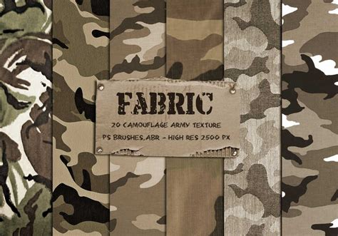 army pattern fabric 20 camouflage fabric texture ps brushes free photoshop