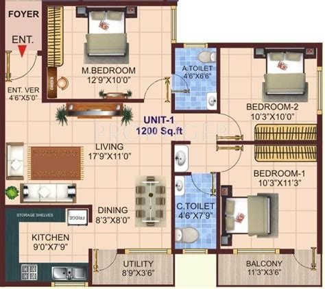 3bhk house plans 1200 sq ft 3 bhk floor plan image shivaganga infra