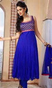 Contemporary blue net plus size chudidar dress kaneesha