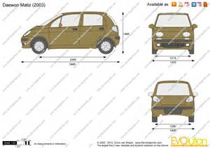Daewoo Matiz Dimensions The Blueprints Vector Drawing Daewoo Matiz