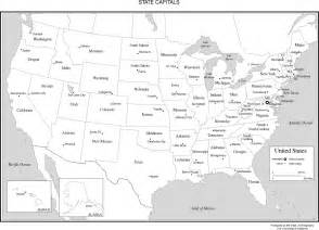 united states map with capitals united states labeled map