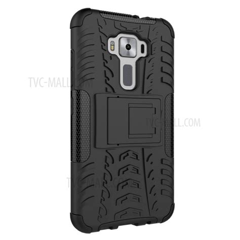 Asus Zenfone 3 Ze520kl Hardcase Transformers Kickstand Armor Cover skid proof pc tpu hybrid with kickstand for asus zenfone 3 ze520kl black tvc mall