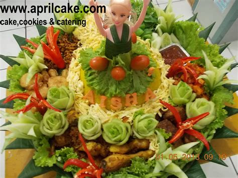 membuat nasi tumpeng tumpeng barbie aisha april cake