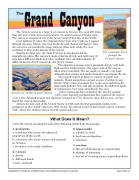 Free Printable 7th Grade Reading Comprehension Worksheets by Grand 7th Grade Reading Comprehension Worksheet