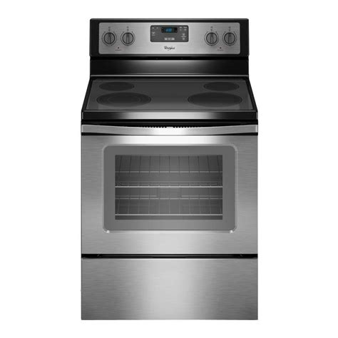 whirlpool 30 in 4 8 cu ft electric range in stainless