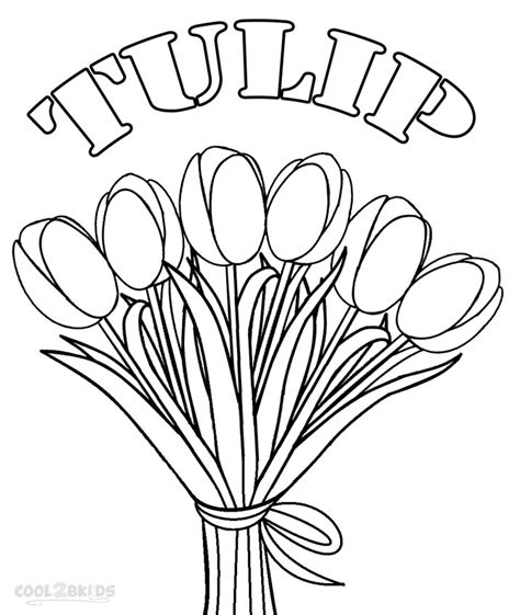 coloring pictures of tulip flowers printable tulip coloring pages for kids cool2bkids