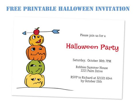 Free Printable Halloween Party Flyer Template