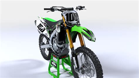 customized motocross kawasaki pyramid semi custom motocross graphics bikegraphix