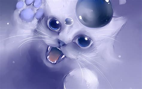 anime kitten hd wallpaper 18636 baltana anime cat wallpaper wallpapersafari