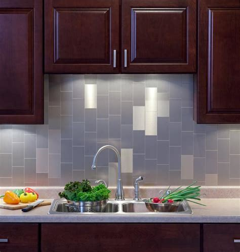 Backsplash Tile For Kitchen Peel And Stick Kitchen Backsplash Project Kits From Backsplashideas