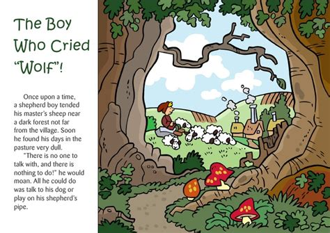 printable version of the boy who cried wolf the boy who cried wolf