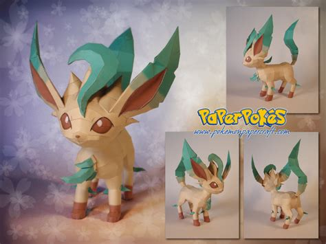 Leafeon Papercraft - paperpok 233 s pok 233 mon papercraft leafeon